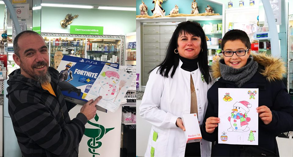 Aitor Luis y Alejandro García, ganadores del concurso de la Farmacia Myriam
