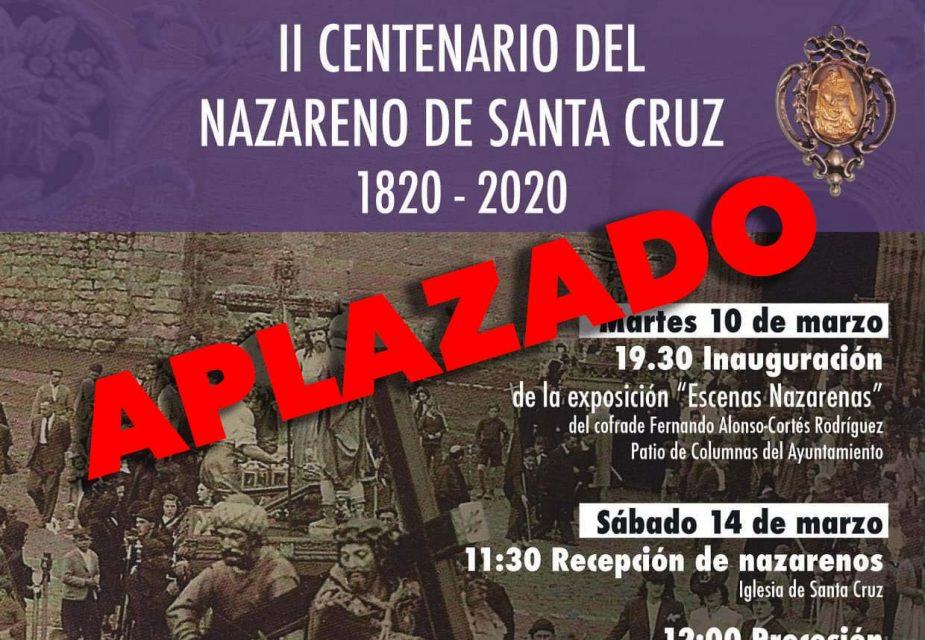 La Hermandad de Jesús Nazareno de Santa Cruz de Rioseco aplaza la celebración de su II Centenario