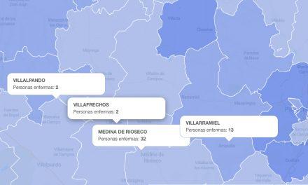 Número total de casos por coronavirus en los centros de salud del territorio