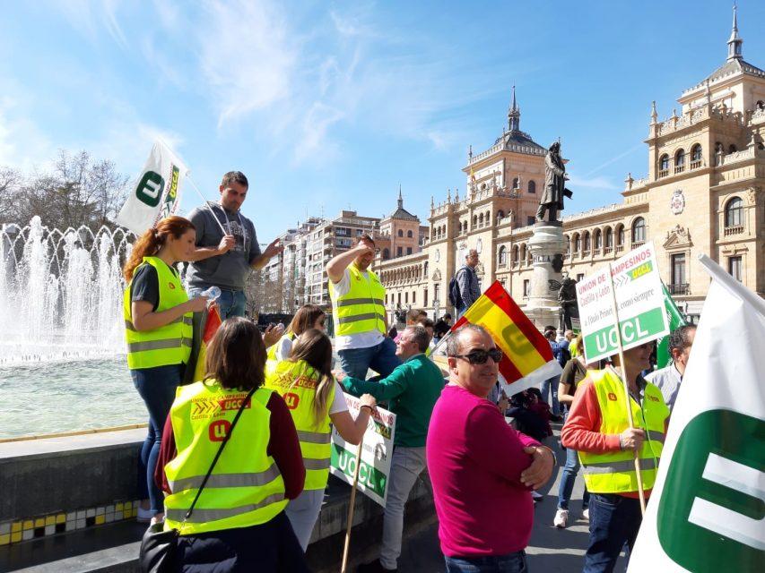 Campos y Torozos, entre los casi mil tractores que colapsaron hoy Valladolid