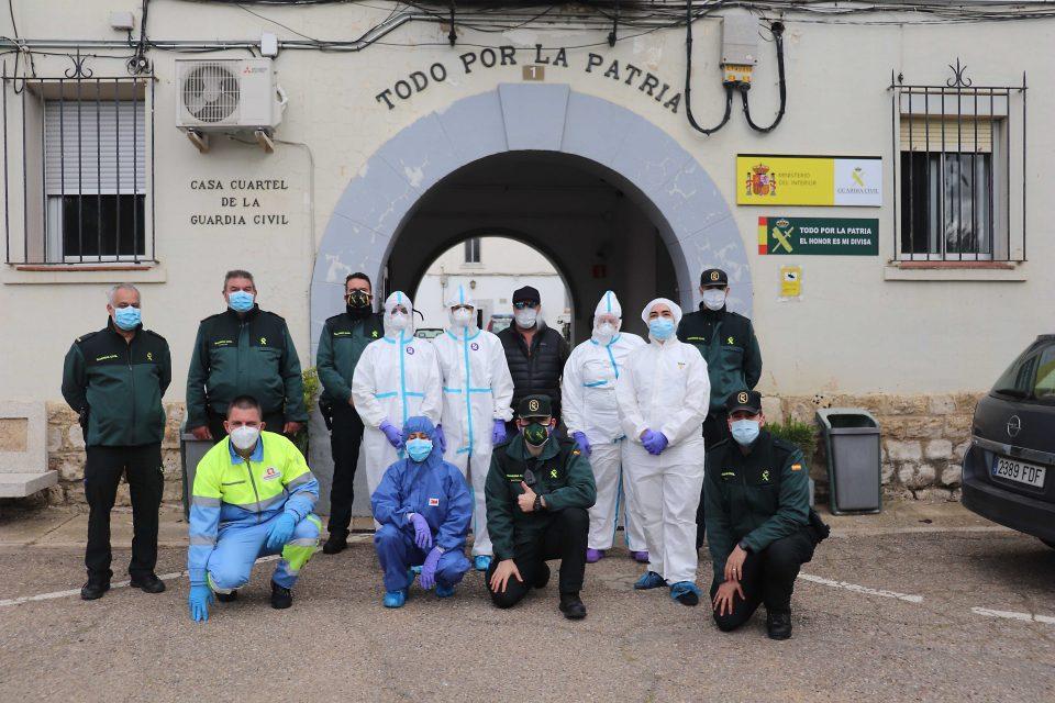 Realizan el test PCR a medio centenar de agentes de la Guardia Civil en Rioseco