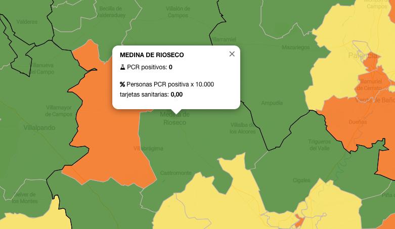 La zona de salud de Rioseco pone en verde su semáforo del Covid-19