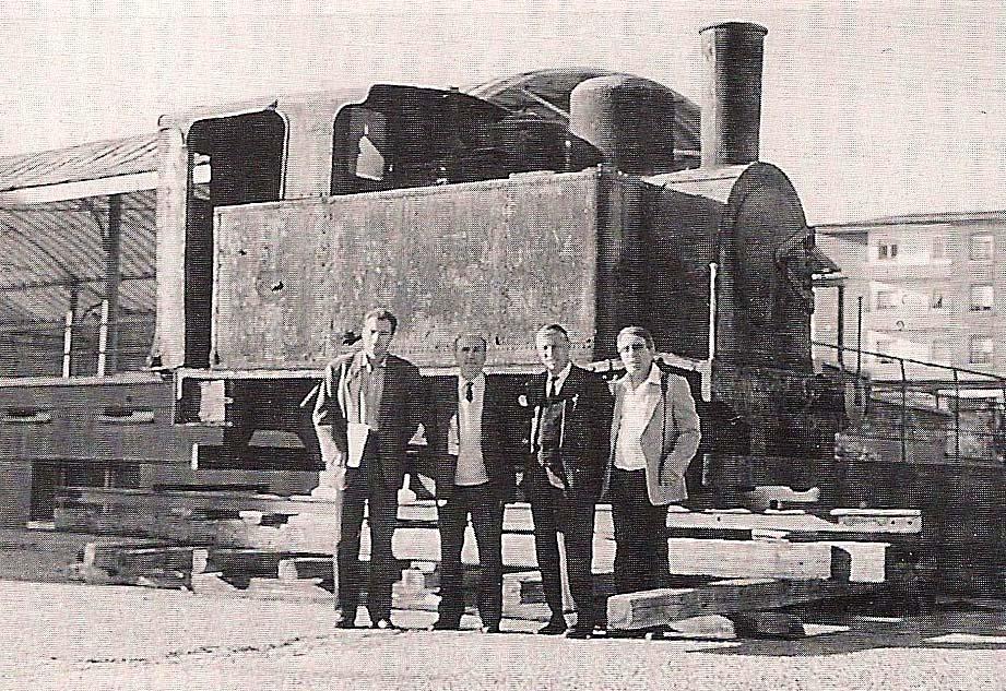 Eduardo Franco trajo a Rioseco la locomotora que recuerda al 'tren burra'