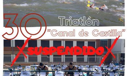 Rioseco cancela el triatlón Canal de Castilla y sus campamentos de julio