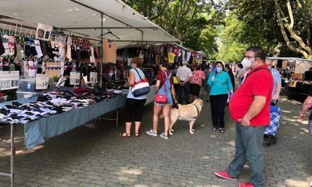 Rioseco recupera el mercadillo de los miércoles en el Parque Duque de Osuna