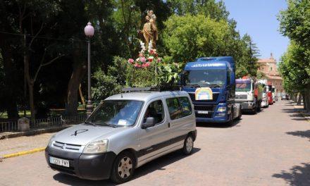 Los camioneros de Rioseco celebran San Cristóbal a golpe de claxon