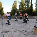 Seis horas ininterrumpidas de pedaladas por una buena causa
