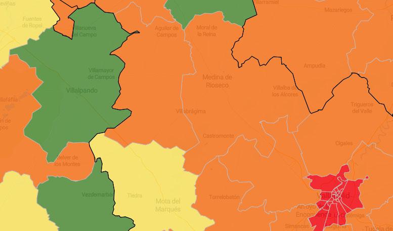 Villalpando, única zona del territorio en verde en el mapa del coronavirus