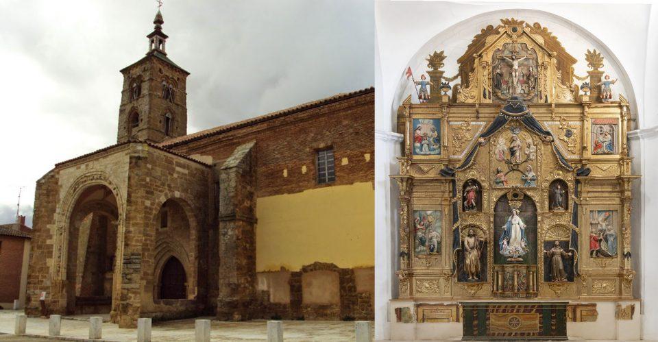 La iglesia de Santa María del Rio de Castroverde de Campos acoge hoy una jornada de puertas abiertas sobre el proceso de restauración del retablo mayor