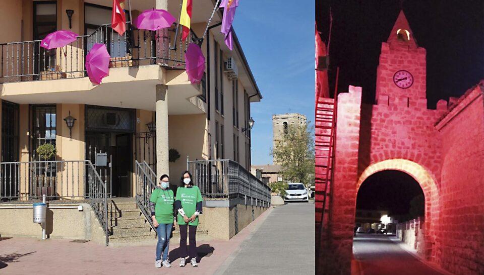 Rosa por el cáncer de mama en Villabrágima