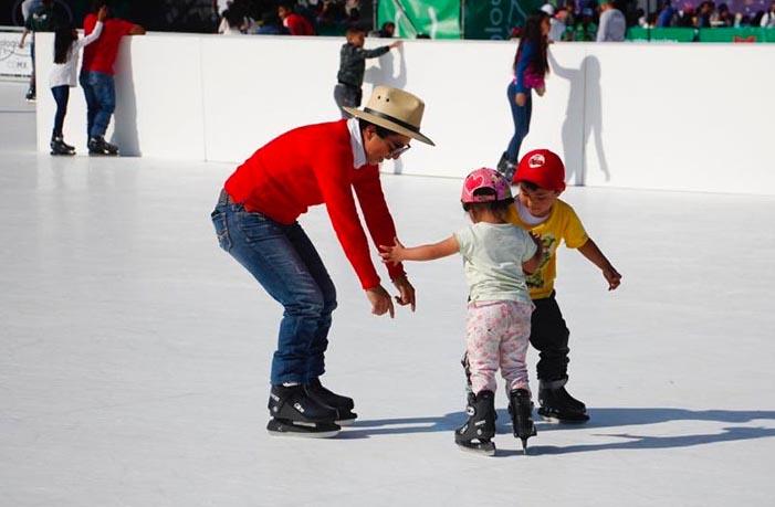 Villafrechós acogerá una pista de hielo ecológico a partir del próximo viernes