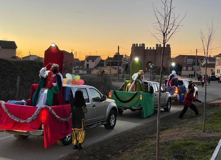 La llegada de los Reyes Magos a la comarca, en imágenes