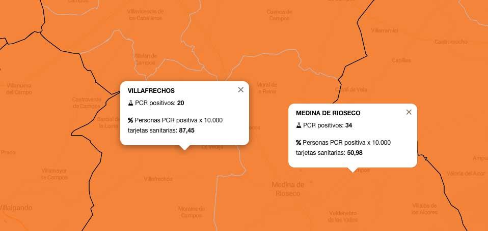 Sigue en aumento el repunte de casos en las ZBS de Rioseco y Villafrechós