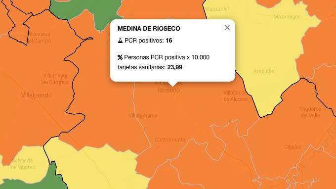 Las navidades empiezan a pasar factura en la ZBS de Medina de Rioseco con 16 PCR positivos en los últimos siete días