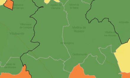 Todas las zonas de salud del territorio se tiñen de verde para reflejar el descenso general en la tasa de contagios