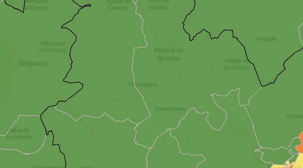 Todas las zonas básicas de salud del territorio mantienen el color verde en el mapa del coronavirus
