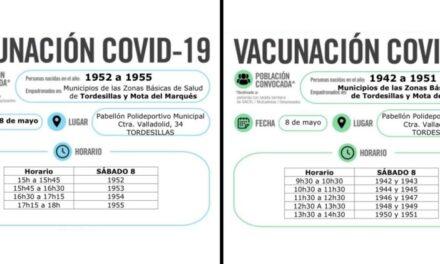 Nueva convocatoria de vacunación masiva para personas de la ZBS de Mota del marques