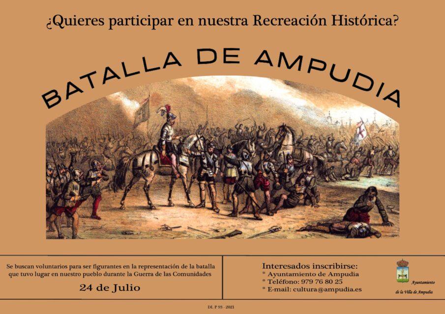 Ampudia busca voluntarios para representar la batalla del pueblo en la Guerra de las Comunidades