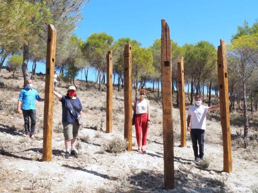 San Pelayo inaugura 'El bosque comunero', una «sala de exposiciones en plena naturaleza» con la revolución comunera como hilo conductor