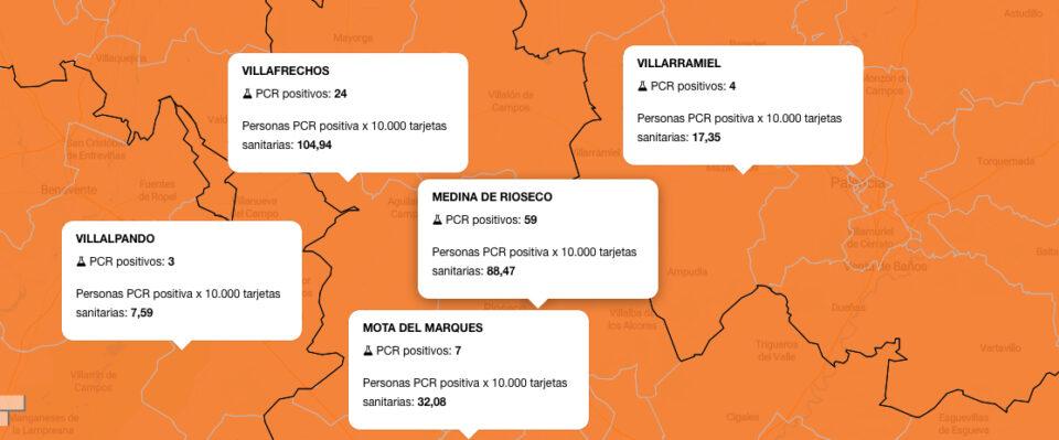 Aumentan los contagios en las ZBS de Rioseco, Villafrechós y Mota