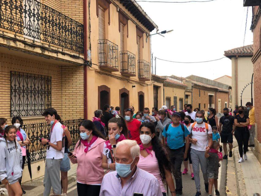 300 personas de San Pedro de Latarce completan un tramo del Camino de Santiago