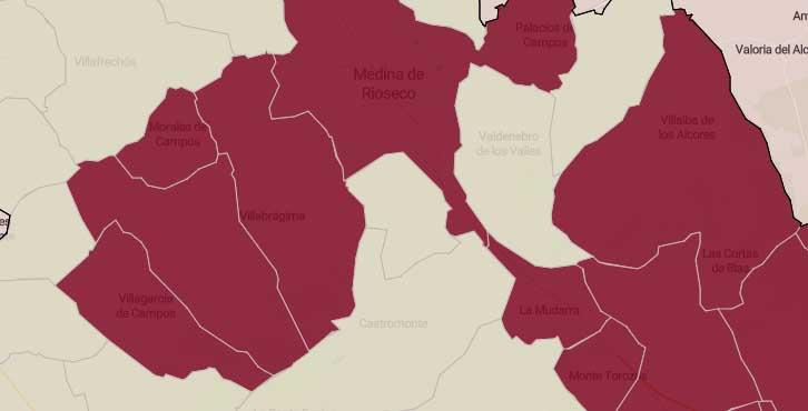 Estos son los ocho pueblos del territorio en riesgo 'Muy Alto' por covid-19