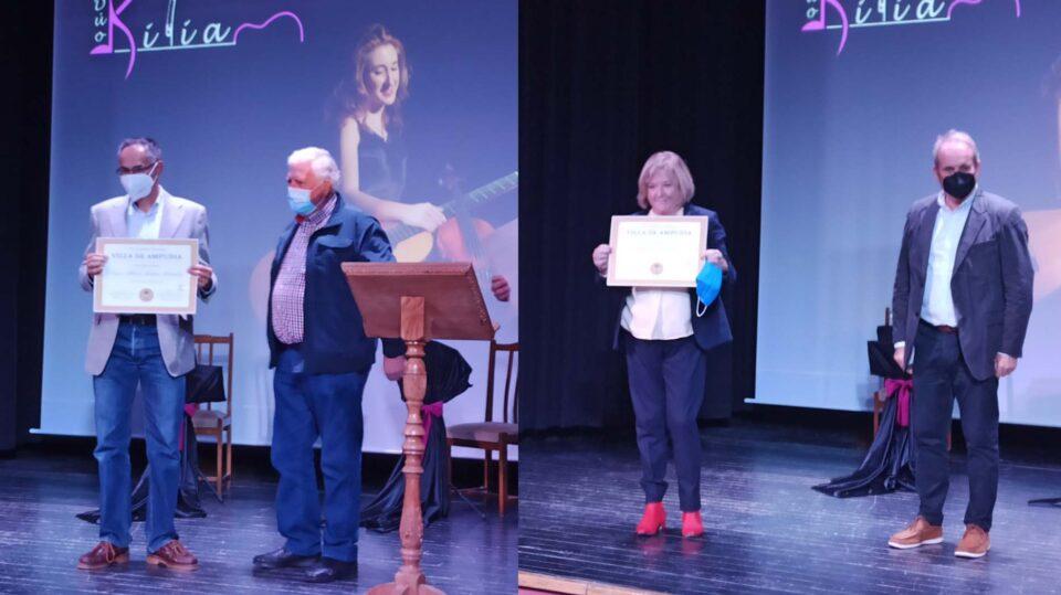 Begoña Sáez y Óscar Alberto Martín, ganadores del Certamen Literario de Ampudia