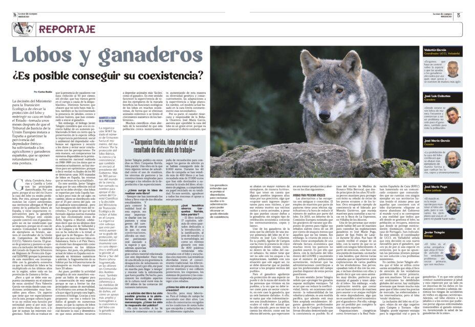 Lobos y ganaderos. ¿Es posible conseguir su coexistencia?